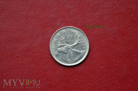 Moneta kanadyjska: 25 cents
