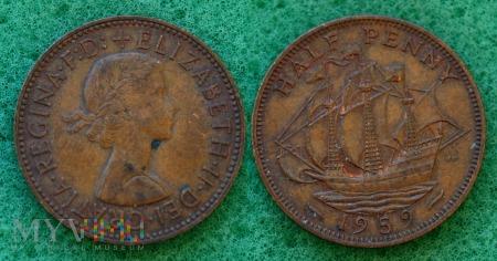 Wielka Brytania, half penny 1959