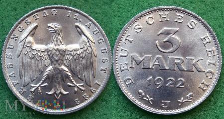 Niemcy, 1922, 3 marki