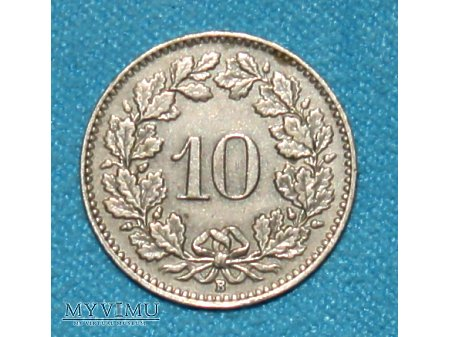 10 Rappen-Szwajcaria 1948
