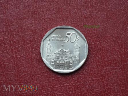 Moneta kubańska: cincuenta centavos
