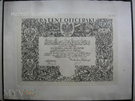 Patent Oficerski por. Ochalika z 4 BSap.