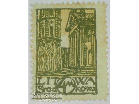 4 M znaczek z Litwy Środkowej