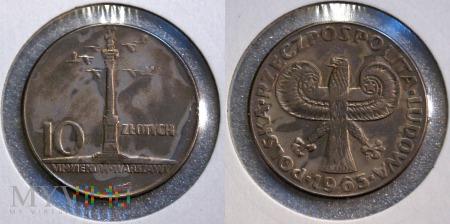 1965, 10 zł Kolumna Zygmunta
