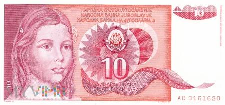 Jugosławia - 10 dinarów (1990)