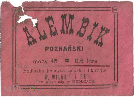 Alembik Poznański 0,6l, 45 %.