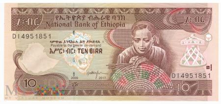 Etiopia - 10 birrów (2017)
