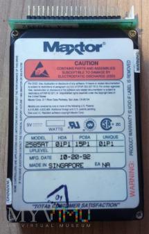 """Dysk 2,5"""" Maxtor 80MB 1992 rok."""