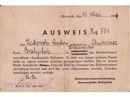 Ausweis z 1944.