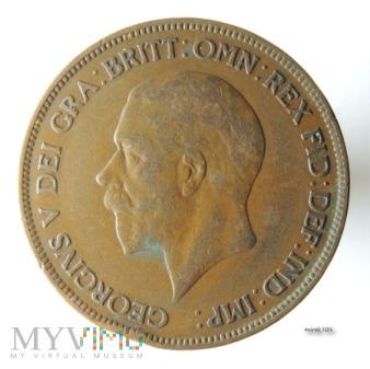 Moneta 1 Pens 1930 Jerzy V One Penny