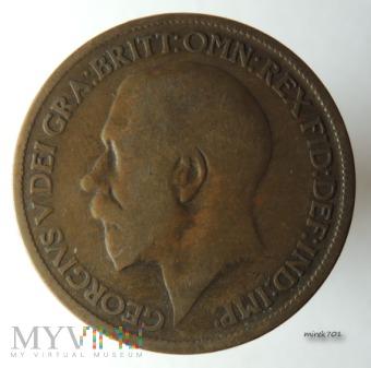Moneta 1/2 Pensa 1921 Jerzy V Half Penny