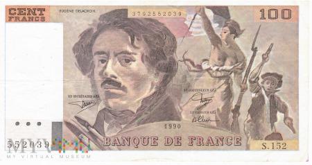 Francja - 100 franków (1990)