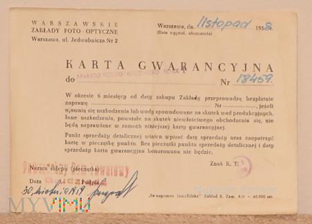 Duże zdjęcie Fenix I karta gwarancyjna nr.18459