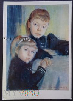 Duże zdjęcie Wyspiański Stanisław Portret dwóch dziewczynek