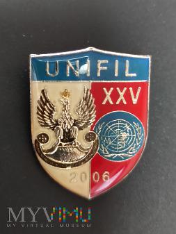 Pamiątkowa odznaka XXV zmiany UNIFIL - Liban
