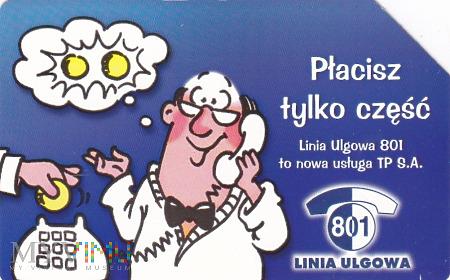 Duże zdjęcie Karta telefoniczna - Linia Ulgowa 801