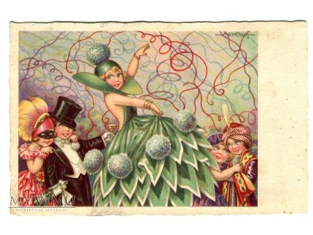 Duże zdjęcie Karnawał Carnevale Carnival BERTIGLIA postcard