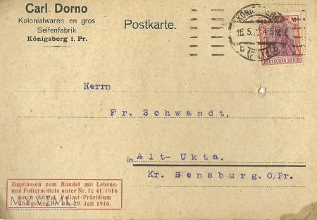 Carl Dorno Konigsberg 1922 r.