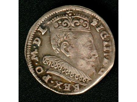 Trojak mennica Wilno- 1595 r-ładny