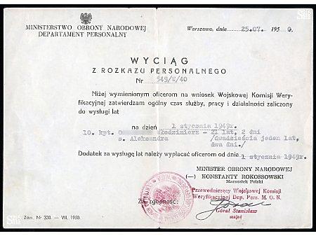 Podpułkownik Włodzimierz Oniszczyk - dokumenty - 5