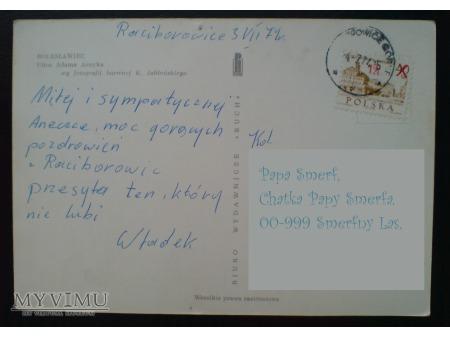 1977 Bolesławiec Władek pisze do Aneczki