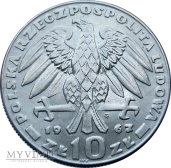 Świerczewski, 10 złotych, 1967 rok.