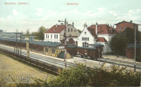 Żarów dworzec ( Saarau ) Bahnhof 1911 rok