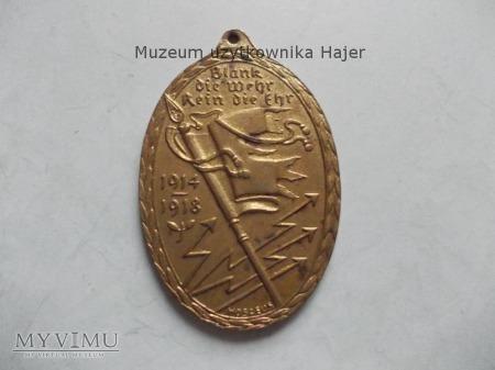 Medal Blank die Wehr Rein die Ehr 1914-1918