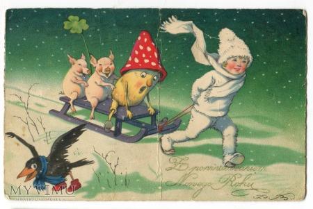 1931 Muchomor Kruk Świnki Fritz Baumgarten