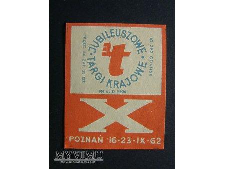 Etykieta - X Jubileuszowe Targi Krajowe