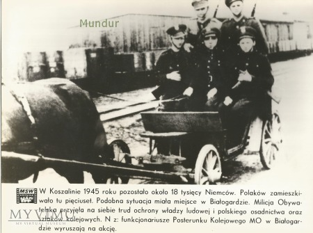 Zdjęcie propagandowe MO: Posterunek Kolejowy
