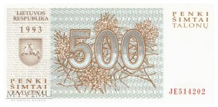 Litwa - 500 talonów (1993)