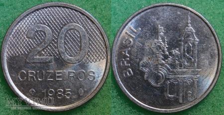 Brazylia, 20 CRUZEIROS 1985