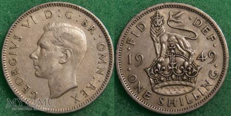Wielka Brytania, 1 SHILLING 1949