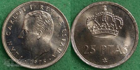 Hiszpania, 25 PESETAS 1975