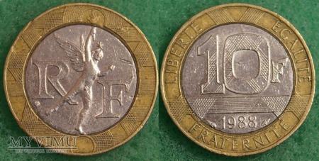 Duże zdjęcie Francja, 10 Francs 1988