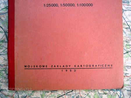 ZNAKI TOPOGRAFICZNE WZORY PISM SKRÓTY DLA MAP 1952