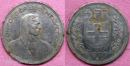 Szwajcaria, 5 Francs 1997