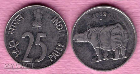 Indie, 25 Paise 1989