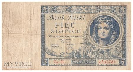 Polska - 5 złotych (1930)