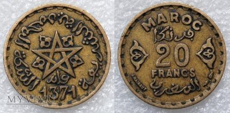 Maroko, 20 Francs 1952