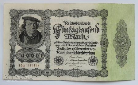 50 000 marek 1922 Reichsbanknote