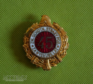 """Odznaka """"Za wysługę lat 45"""""""