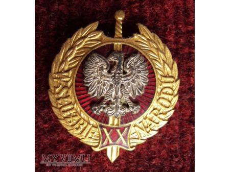 """Odznaka """"W Służbie Narodu"""" za XX lat"""