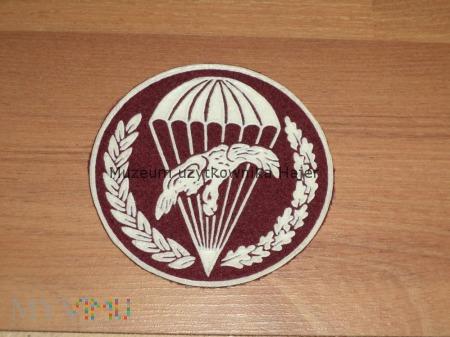 Naszywka spadochronowa bordo na mundur galowy