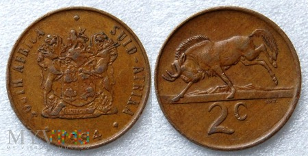 South Africa, 2 cents 1984