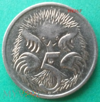 5 centów Australia 1989