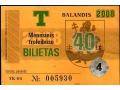 Bilet autobusowy z Litwy.
