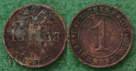 Niemcy, 1933, 1 Reichspfennig