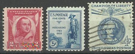 Polacy na znaczkach USA.